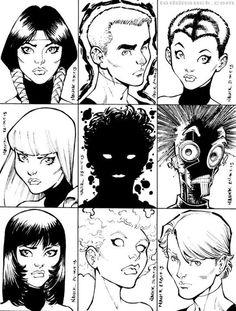 1980's X-Men/New Mutants: Mirage, Cannonball, Wolfsbane, Magik, Sunspot, Warlock, Karma, Magma, & Cypher by Todd Nauck