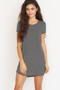 Striped T-Shirt Dress.