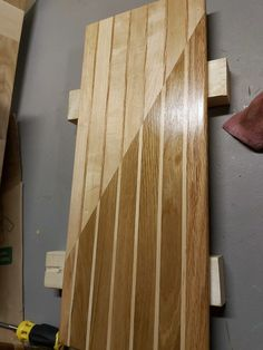 Create two boards with a similar pattern and cut both in half and laminate opposing pieces together! Check out more at our etsy shop. Wood Cutting Boards, Etsy App, Craft Supplies, Vintage Items, Hardwood, Etsy Seller, Create, Check, Shop