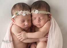 baby girl twins photographed by Mariela Duval Photography located in Atlanta, Georgia.
