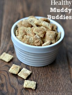 These Healthy Muddy Buddies are a fantastic snack to satisfy any sweet tooth cravings. They are quick to make and packed with a little extra protein too.