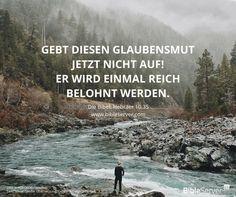 Nicht aufgeben! | Bibelvers nachlesen auf #BibleServer | Hebräer 10,35