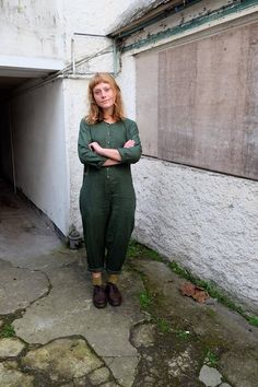 The RHEA Overalls : A heavy linen jumpsuit with side pockets