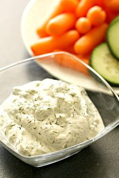 Greek Yogurt Ranch Vegetable Dip   Six Sisters' Stuff