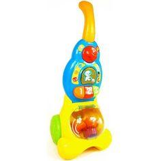 Le premier aspirateur musical et parlant de Bébé ! • 2 modes : découvertes et musique • En mode découverte : Bébé découvre les chiffres en aspirant le nombre de cubes demandés. • Quand les cubes sont aspirées elles se mettent à danser dans le ventre de l'aspirateur. • En appuyant sur les boutons lumineux 1,2 ou 3, Bébé apprend à compter. • Le bouton « Chien » déclenche une chanson et des phrases amusantes. • Quand bébé fait rouler l'aspirateur, il déclenche des effets sonores réalistes et…