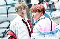 V and J-Hope ❤ BTS X Dispatch Love Yourself 承 'Her' Photoshoot~ (Original Article: m.star.naver.com/bts) #BTS #방탄소년단