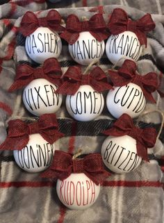 A personal favorite from my Etsy shop https://www.etsy.com/listing/569400521/rae-dunn-inspired-ornaments-santas