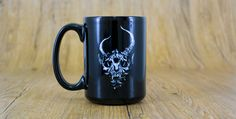 Guaranteed to give you the early morning pep! Christian Metal, Skull Logo, Demon Hunter, Metal Bands, Early Morning, Hot Chocolate, Nerdy, Coffee Mugs, Geek Stuff