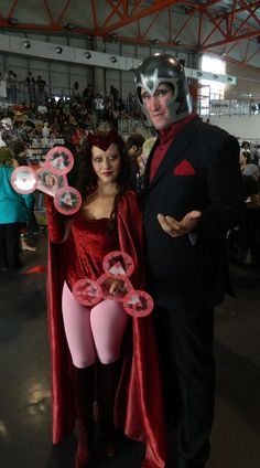 Magneto and Scarlet Witch cosplay. Though, to be quite honest, it looks more like Sebastian Shaw from X-Men: First Class.