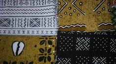 Bogolan: tessuto cotone grezzo, colorazione con colori naturali (Provenienza: Malì)