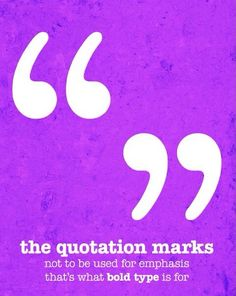 Quotation Marks Print by Grammatical Art