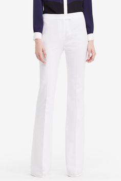 DVF Nicola Textured Cotton Wide Leg Pant