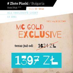 Oferta LAST MINUTE w Złotych Piaskach w Bułgarii