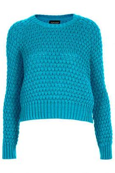 Knitted Chunky Bobble Jumper @Topshop