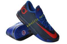 College Navy Royal Blue Nike KD VI Red 599424 800