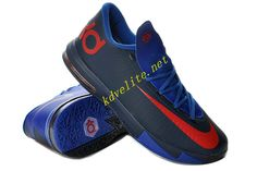 College Navy Royal Blue Nike KD VI Red 599424 800