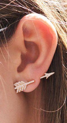 Rose Gold Arrow Earrings