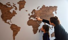 World Map made of wood by EnjoyTheWood ✈ Original wall decor by EnjoyTheWood — Kickstarter