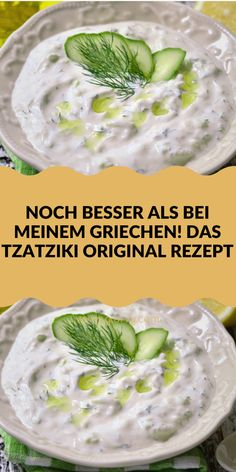 Greek Recipes, Vegan Recipes, Tzatziki Recipes, Tzatziki Sauce, Party Finger Foods, Original Recipe, Goulash, Food Hacks, Food Inspiration
