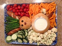 My Easter Bunny Veggie Tray!!