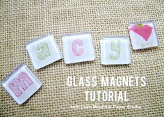 Glass Magnets - Tutorial by Leen Machine Paper Studio