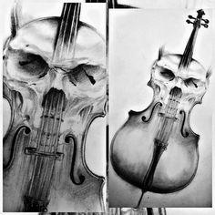 #cello & #skull #pencil #sketch #sketchoftheday #draw #drawing #drawings #art #artwork #instaart #instasketch #instadraw #worldofpencils ..