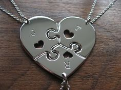 Three Piece Heart Puzzle with Hearts, this is what I want for my kids & I for their brother!