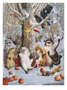 Christmas in the Woods Giclee-vedos tekijänä Philip Vinton Hopkins AllPosters.fi-sivustossa