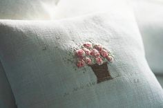 The Paper Mulberry: An English Summer Cottage Cross Stitch Embroidery, Embroidery Patterns, Hand Embroidery, Flower Embroidery, Vintage Embroidery, Embroidered Cushions, Embroidered Flowers, Paper Mulberry, English Summer