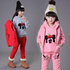36.86$  Buy now - https://alitems.com/g/1e8d114494b01f4c715516525dc3e8/?i=5&ulp=https%3A%2F%2Fwww.aliexpress.com%2Fitem%2FThe-new-children-s-wear-winter-sports-fashion-three-piece-suit-2016-girls-cuhk-child-upset%2F32762770272.html - The new children's wear winter sports fashion three-piece suit 2016 girls cuhk child upset mickey Sets