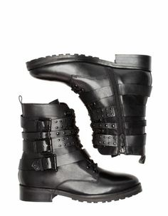 Stradivarius' flat ankle boots with strap and stud detail