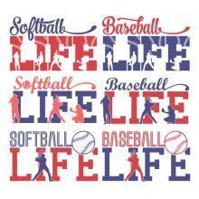 Baseball Life SVG Cuttable Designs
