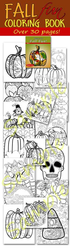 Fall Fun Relax In Color Coloring Book For Adults And Big Kids Pages Autumn Colors