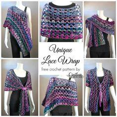 This crochet lace makes a beautiful wrap. Unique Lace Wrap - Media - Crochet Me