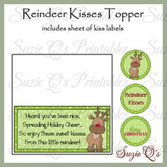 Angel Kisses Topper with Religious poem and kiss labels ...