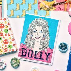 Happy Birthday Dolly! The Queen of Country is 70 years old today. I'm celebrating with a sale! Take 20% off orders of $5 or more with the code HELLODOLLY! I'll be slipping Dolly cards and pins in with orders too.