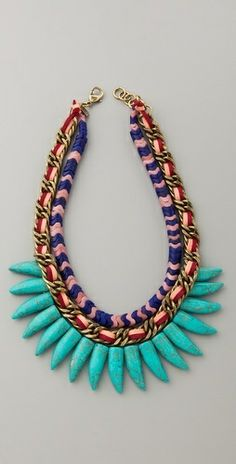 Colors, textures, a little tribal, a little Jurassic, turquoise stones.
