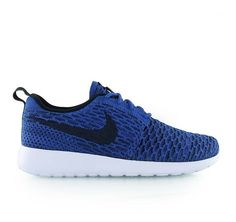 $129.99 - Nike Women's Roshe Flyknit Running Shoes Blue/Black Color Size 9.5 US #shoes #nike #2016