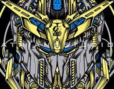 Gundam Head, Zeta Gundam, Flat Illustration, T Rex, Cover Design, Futuristic, Science Fiction, Behance, Cartoon