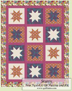 Starry Botanique Quilt Kit