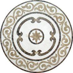Old World Stone Imports - Flooring & Design - Medallion Floor Patterns, Wall Patterns, Floor Design, Ceiling Design, Paving Pattern, Feature Tiles, Tiles Texture, Decoration, Bricks