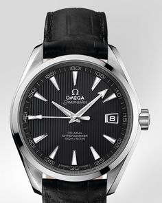OMEGA Watches: Seamaster Aqua Terra Chronometer - Steel on leather strap - 231.13.42.21.06.001