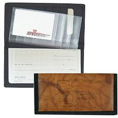 San Diego Padres Leather/Nylon Embossed Checkbook Cover