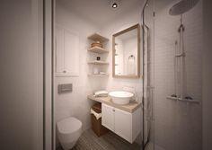 Skandynawska łazienka w byłym Domu Asystenta