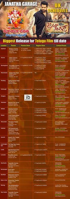 Janatha Garage UK Schedules http://idlebrain.com/abroad/janathagarage-uk.html
