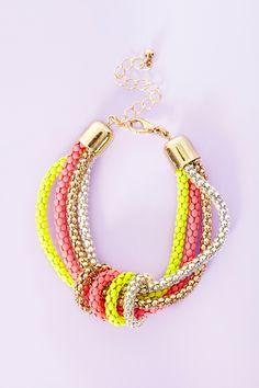 Neon Metal Bracelet in Accessories at Nasty Gal $12