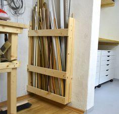 "and ""Ikea Hack"" donauluft: Studio Renova. donauluft: Studio Renovating Update… and ""Ikea Hack"" donauluft: Studio Renovating Update… Lumber Storage, Diy Garage Storage, Ikea Storage, Firewood Storage, Tool Storage, Workshop Storage, Garage Workshop, Wood Projects, Woodworking Projects"