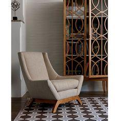 Precedent Furniture Jasper Chair in Room at an angle formerly DwellStudio Jensen Chair