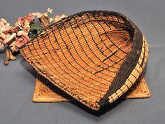 Antique Japanese Tatami Weave Rice Scoop  Circa 1940s