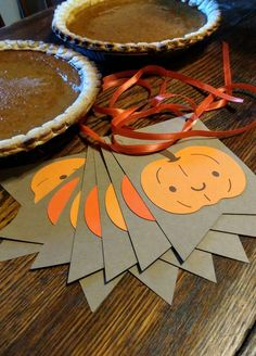Items similar to Pumpkin Banner ~ Cute Fall Decor ~ Kids Fall Decor ~ Halloween Bunting ~ Autumn Garland ~ Orange and Brown Fall Pennants ~ Pumpkins Decor on Etsy Fall Paper Crafts, Fall Crafts For Kids, Thanksgiving Crafts, Crafts For Teens, Kids Crafts, Holiday Crafts, Holiday Ideas, Fall Banner, Fall Garland